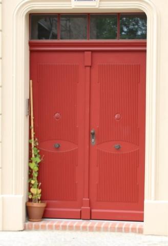 Eingangstür Rot