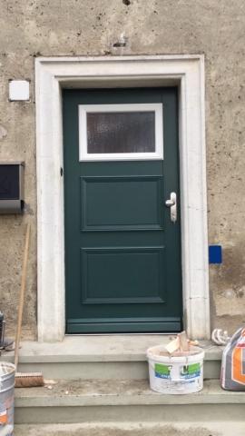 Eingangstür Grün